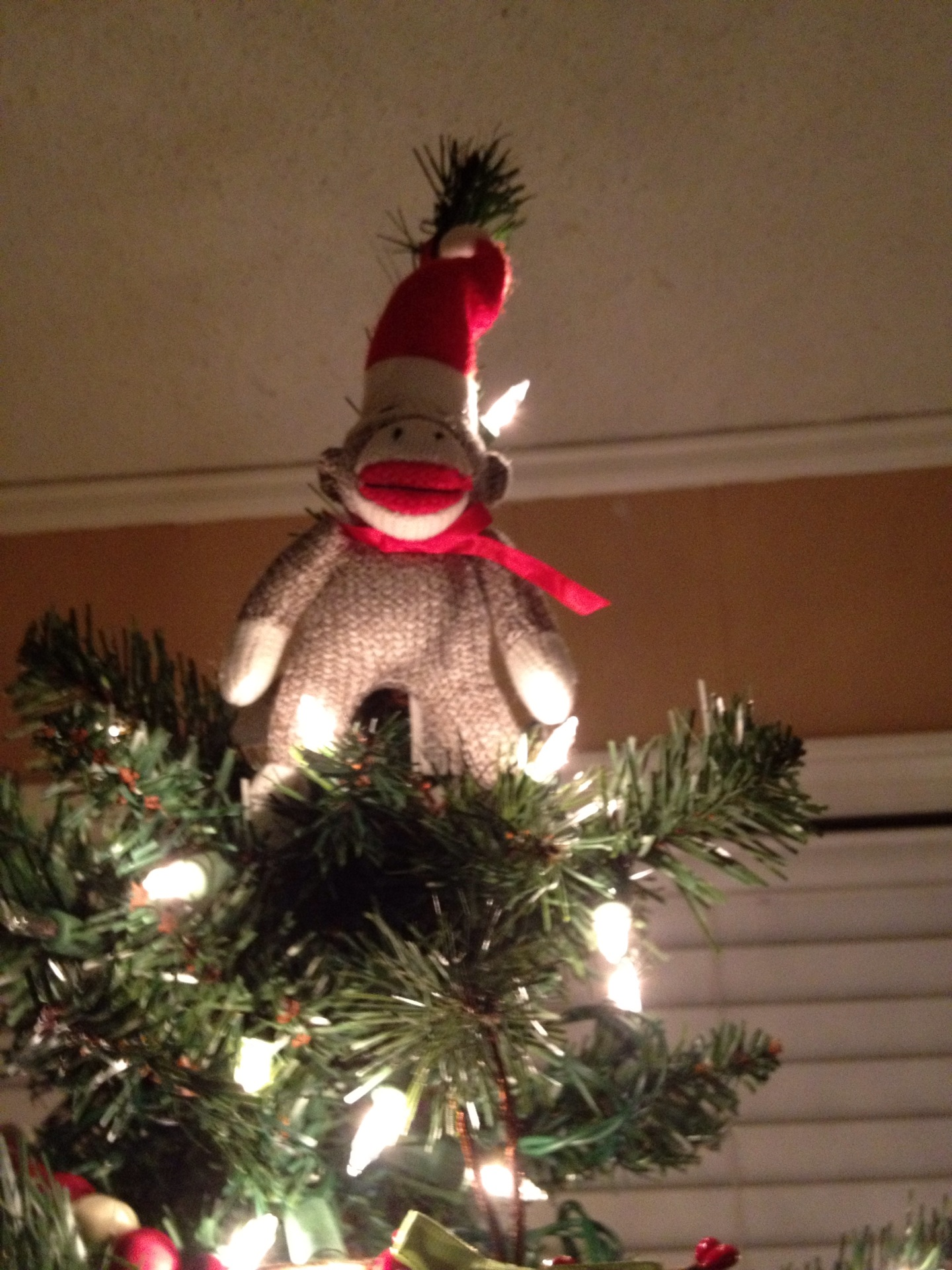 Monkey Christmas Tree Ornaments